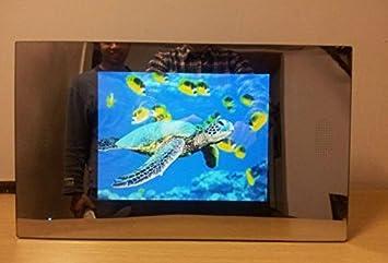 Gowe 26,4 cm Spiegel Badezimmer-TV/Wasserdicht Badezimmer ...