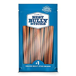 Best Bully Sticks Odor-Free Angus Bully Sticks - Made of All-Natural, Free-Range, Grass-Fed Angus Beef - Hand-Inspected and USDA/FDA-Approved 1