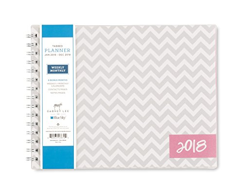 Dabney Lee for Blue Sky 2018 Weekly & Monthly Planner, Twin-Wire Binding, 10