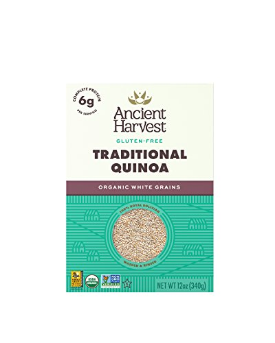 Ancient Harvest Organic Quinoa, Traditional, 12 oz. Box (Pack of 12), Essential Gluten-Free Whole Grain Quinoa Packed with Protein, An Easy to Prepare Supergrain
