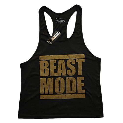 89ca9a58ae6d18 CRAZYBODIES Beast Men s Stringer Bodybuilding Fitness Muscle Workout Gym Tank  Top Singlet - Buy Online in Oman.