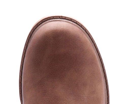 Schuhtempel24 Damen Schuhe Klassische Stiefeletten Stiefel Boots Blockabsatz 4 cm Camel