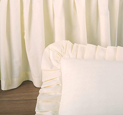Donna Sharp Watercolor Irish Chain Quilts,Bedskirts,Pillows,Valance and Throw (Multi, Euro Sham Ivory 26W x 26L)