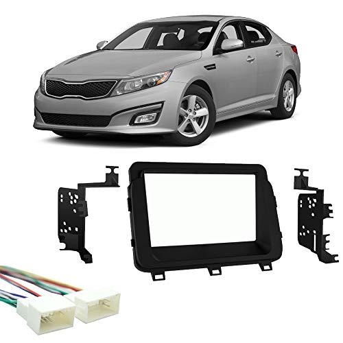 (Fits Kia Optima 2014-2015 Double DIN Stereo Harness Radio Install Dash Kit New)