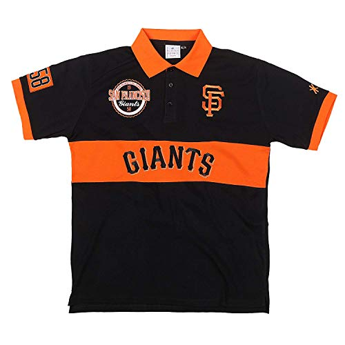 (FOCO MLB SAN Francisco Giants Cotton/Poly Wordmark Rugby Short Sleeve Polo Shirt Double Extra Large)