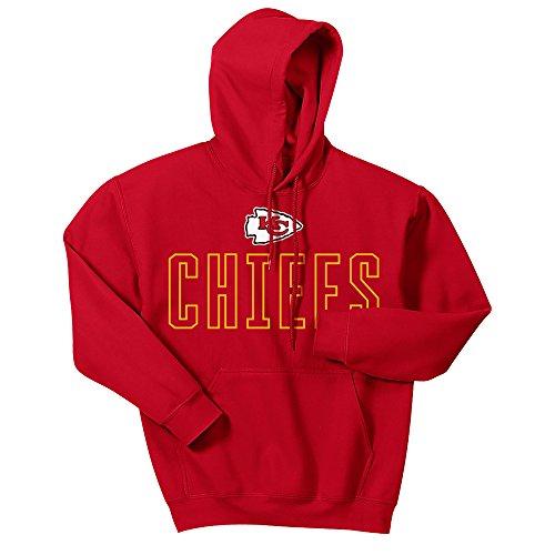Zubaz NFL Kansas City Chiefs Men's Open Letter Logo Hoodie, X-Large, Red