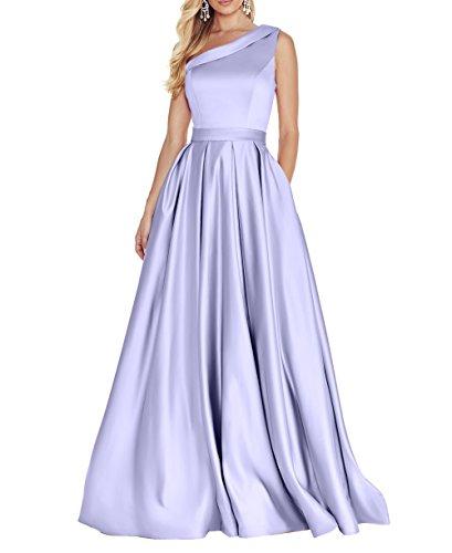 Brautjungfernkleider Partykleider A La Abendkleider Kleider mit Satin Elegant Lilac Traeger Ein Rock Brau Jugendweihe mia Linie qqIXw4