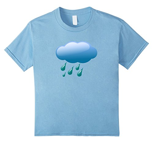[Kids Rain Clouds Storm Showers Costume T-shirt 10 Baby Blue] (Chance Of Rain Costume)