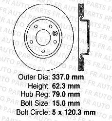 Land Rover 5lug High-End 4 Semi-Metallic Pads Front Kit 2 Cross-Drilled Disc Brake Rotors