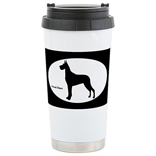 - CafePress - Great Dane Silhouette Stainless Steel Travel Mug - Stainless Steel Travel Mug, Insulated 16 oz. Coffee Tumbler