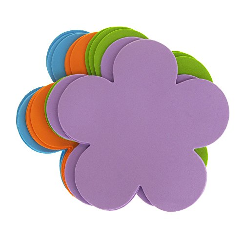 Homeford Daisy Flower Foam Shapes, Assorted Color, 5-1/2-Inch, -