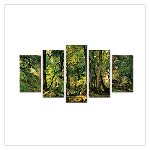 5Pcs Modern Canvas Print Painting Nature Picture Wall Art Home Decor No Frame -