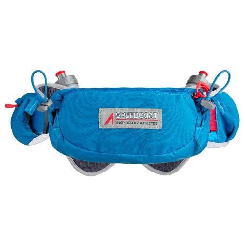 Ultraspire Speedgoat 2.0 Hydration Belt   Up to 1.1L Fluid Capacity   Minimalist Running Belt (Luminous Blue, Universal (Chest Size: - Hydration 2 Belt
