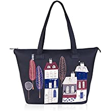 Alba Soboni Embroidered Fashion Women & Girls Ladies Large Tote Shoulder Handbags Shopper Bags (161302)