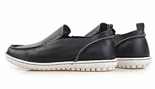 Tda Mens Rekommenderar Varmt Bekväm Läder Halkfri Drivande Företag Klänning Loafers Båt Skor Svart
