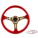 Homelix Drifting Deep Dish 350mm 6 Hole Sports Steering Wheel (red)