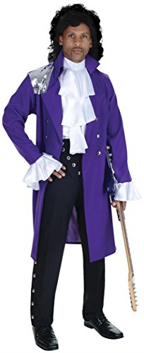 Underwraps Men's 80's Pop Star Costume Purple