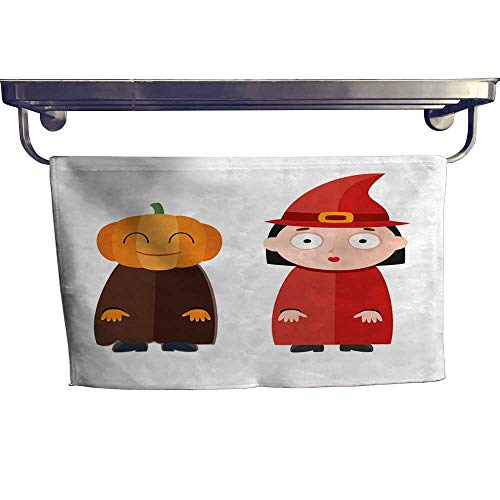 homecoco Dry Fast Towel Vector Illustration of Cute Kids Wearing Halloween Costumes Towel W 8