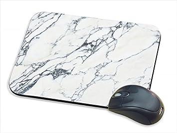 Alfombrilla de ratón de mármol blanco con impresión de mármol, alfombrilla de ratón con diseño