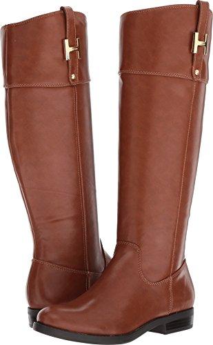 Tommy Hilfiger Women's SHYENNE Equestrian Boot, Cognac, 9.5 Medium US