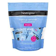 Remove makeup in one easy step with Neutrogena Makeup remover Cleansing towelette Singles. These individually wrapped soft and gentle pre-moistened facial cleansing Wipes effectively dissolve all traces of dirt, oil and makeup - even waterpro...
