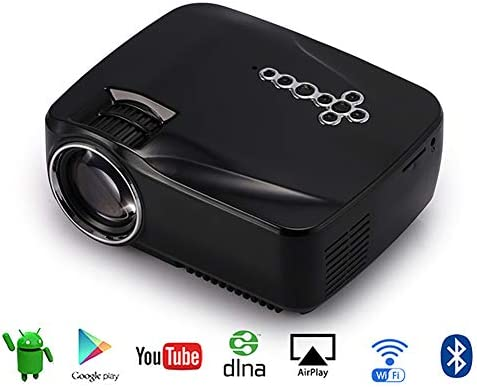 QLPP Proyector, Smart Android WiFi Bluetooth Video Beam, 200 ANSI ...