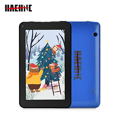 Haehne 7 inch Tablet, Android 9.0, 1G RAM 16GB Storage, Quad Core Processor, 7″ IPS HD Display, Dual Camera, FM, WiFi Only, Bluetooth, Blue