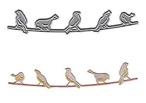 La firma muere–pájaros en un alambre sd590