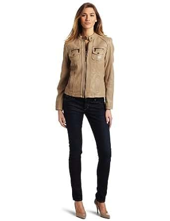MICHAEL Michael Kors Women's Notch Collar Jacket, Clay, Large