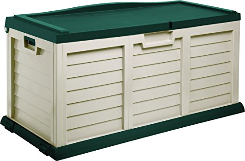 Starplast Deck Box with Sit-On Cover, 103 gallon, Beige/Green by Starplast