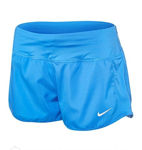 Nike Womens Dri-Fit Crew Dry Running Short Lt Photo Blue 719558-435 (XL X 3)