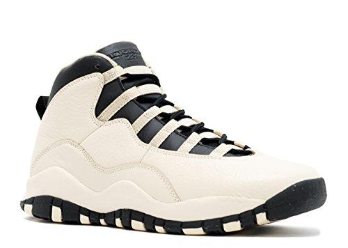 Jordan Big Kids AIR Jordan 10 Retro PREM GG (Pearl White/Black/Black) Size 8.5 US ()