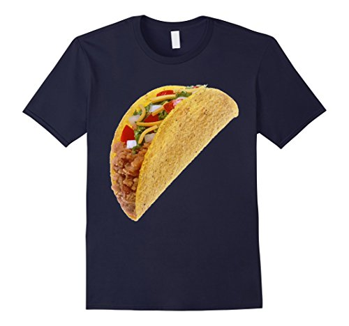 Mens Taco Costume T-Shirt Mexican Food Hard Shell Sombrero Salsa Large (Giant Taco Costume)