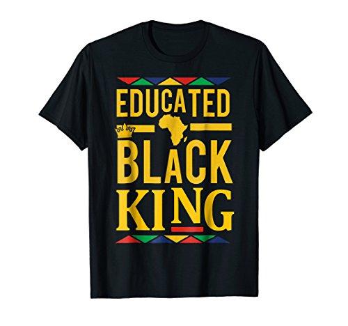 Dashiki Educated Black KING Shirt - African DNA Pride Shirt