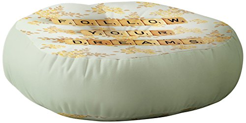 Deny Designs Happee Monkee Floor Pillow, Follow Your Dreams by Deny Designs