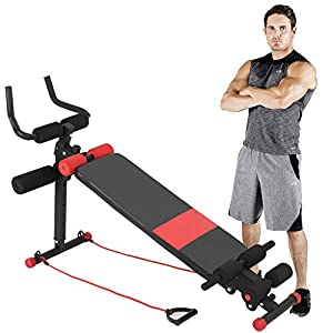 Home Gym Adjustable Utility Weight Bench Dumbbells Bench Foldable Workout Bench, Abdominal Trainer Sit Up Incline Abs Bench Flat Fly Weight Press Fitness (Bearing: 350Lbs)