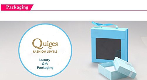 Quiges Mother Gold Plated Silver CZ Birthstone Personalized Engraved 6 Name Wave Stack Custom Ring 11.5 by Quiges (Image #7)