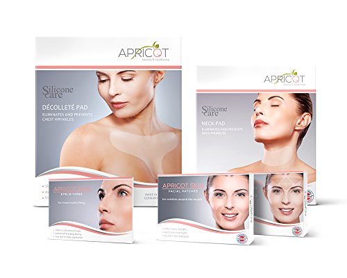 Eye Care Apricot (NEW! APRICOT Bestseller Beauty Box! Special Price! Discover our Bestsellers! Silicone care Décolleté and Neck Pad, APRICOT SKIN Facial Patches (forehead and mouth) and APRICOT SKIN Eyelid Tapes!)