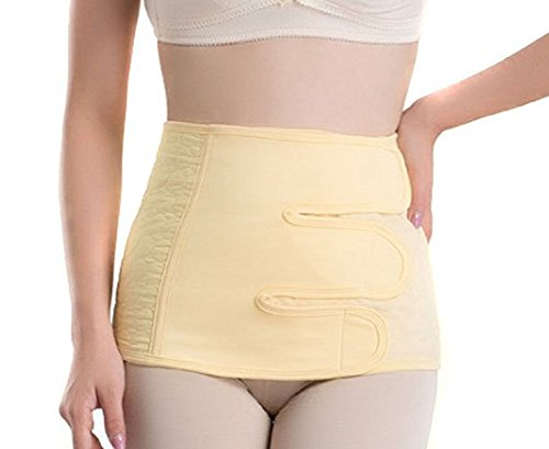 EUBUY Cotton Comfortable Women's Maternity Strengthen Breathable Elastic Cesarean Postpartum Recovery Abdomen Belly Waist Slimming Shaper Wrap Belt Binder(XL)