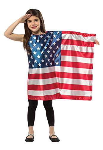 Rasta Imposta USA Flag Dress, 7-10 Years - Patriotic Girl Child Costumes