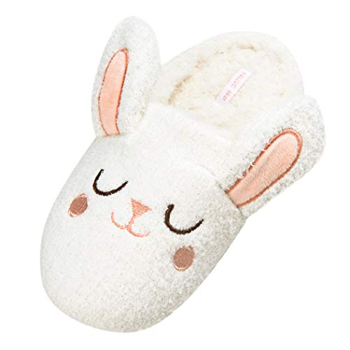 HALLUCI Women's Cozy Fleece Memory Foam House Trick Treat Halloween Slippers 5-6 M US, The Napping Bunny