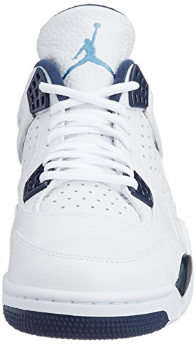 Nike Mens Air Jordan 4 Retro Ls Columbia Bianco / Leggenda Blu-midnight Blu Navy Taglia 8.5