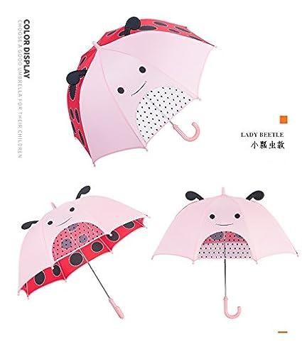 LJSHU Regalo Creativo Niños Tridimensional Cartoon Cartoon Animal Umbrella, Ladybug