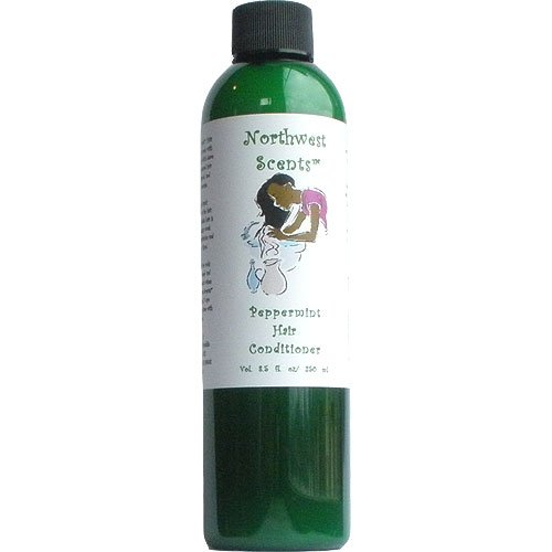 Northwest Scents Peppermint Conditioner for Black, African American, Afro Caribbean, Dry, Coarse, and Highly Textured Hair - 8.5 oz bottle