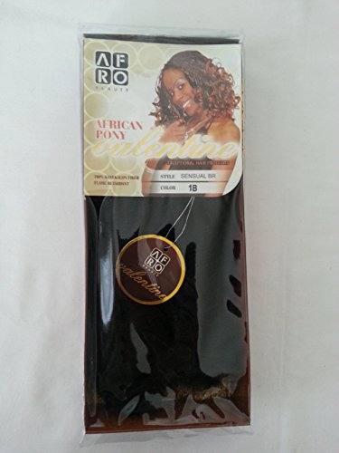 Afro Beauty Collection African Pony (Valentine) (Sensual Braid) - Color 1B - Off Black by Afro Beauty from Afro Beauty