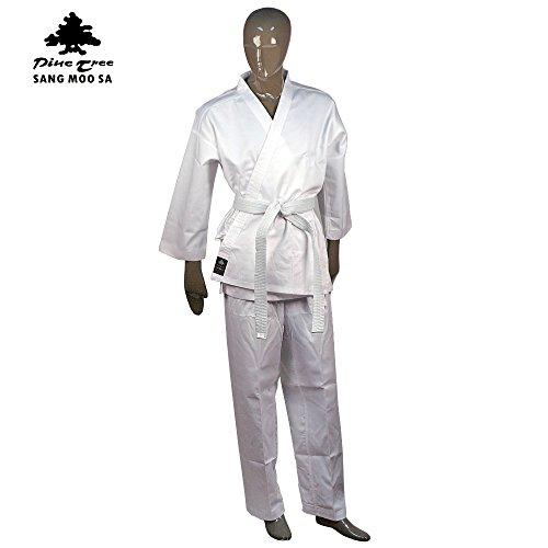 (Pine Tree Sangmoosa Middleweight 7 oz Student Karate Uniform, White (2))