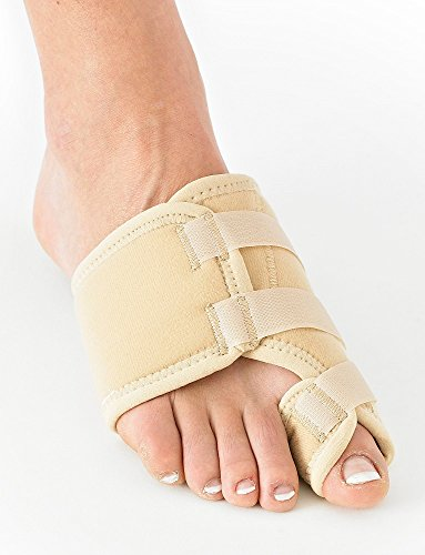 (Neo G Bunion Corrector, Soft Support - For Big Toe Alignment, Hallux Valgus Correction, Inflammation, Pre/Post-Operative Aid - Malleable metal splint - Class 1 Medical Device - One Size - Right - Tan)