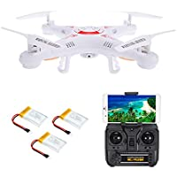 Goolsky X5C-1 2.0MP Camera WiFi FPV Drone 3D Flips Headless Mode One Key Return G-sensor Quadcopter w/ Two Extra Battery RTF