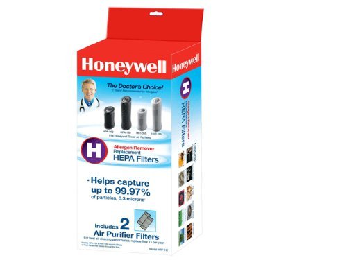 3 X Honeywell True HEPA Air Purifier Replacement Filter 2 Pack, HRF-H2 / Filter (H) (Honeywell Tabletop Purifier Air)