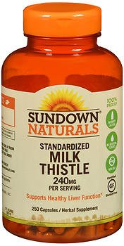 - Sundown Naturals Standardized Milk Thistle 240 mg Herbal Supplement - 250 Capsules